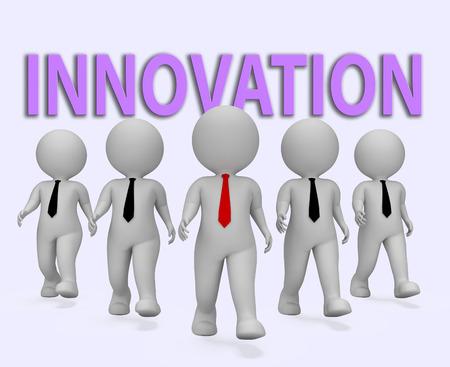 Innovation Businessmen Showing Entrepreneurial Innovate And Entrepreneurs 3d Rendering