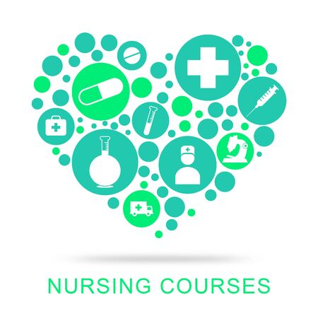 matron: Nursing Courses Representing Nurse Job And Caregiver Stock Photo