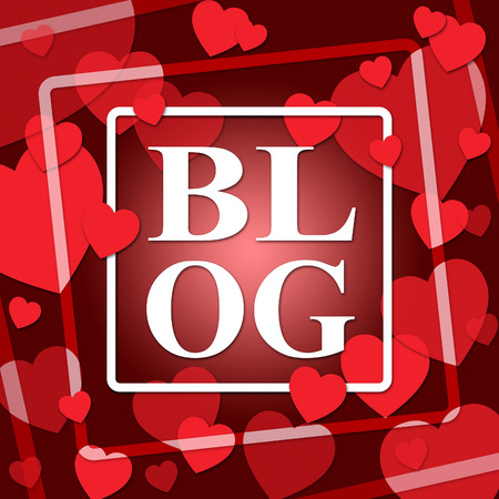Blog Hearts Representing World Wide Web And Web Site