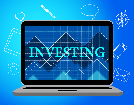 Investing Online Showing Web Site And Growth