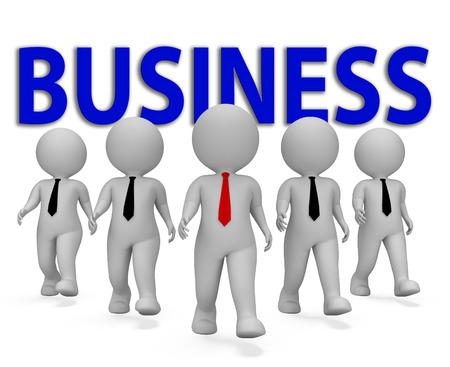 entrepreneurial: Business Businessmen Indicating Entrepreneurial Businessman And Company 3d Rendering