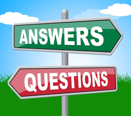 knowhow: Answers Questions Representing Assistance Knowledge And Knowhow Stock Photo