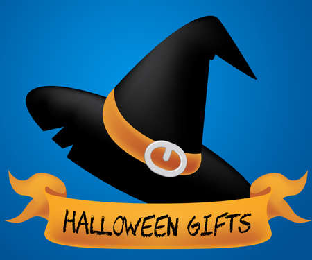 Halloween Gifts Indicating Trick Or Treat And Package Present Stock Photo