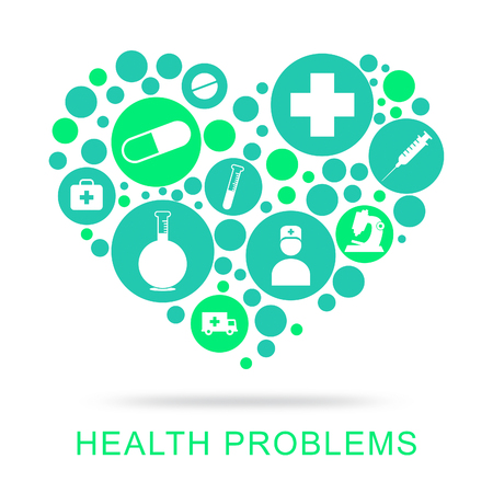 health problems: Health Problems Showing Difficulty Worry And Issue Stock Photo