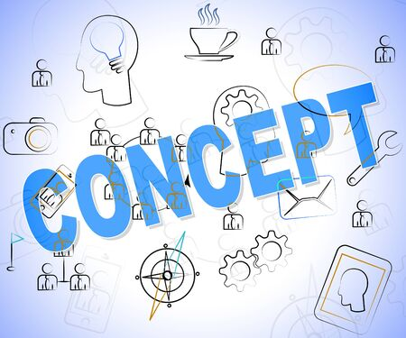 hypothesis: Concept Word Showing Conceptualization Conception And Innovation Stock Photo