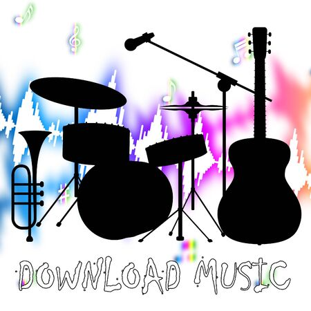 downloaded: Download Music Showing Sound Track And Melody Stock Photo