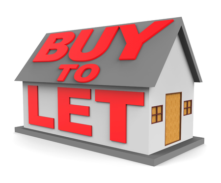 let: Buy To Let Meaning Real Estate And Habitation 3d Rendering