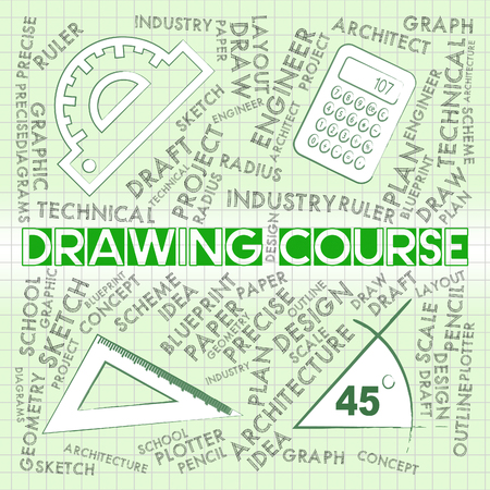 syllabus: Drawing Course Meaning Sketch Designer And School Stock Photo