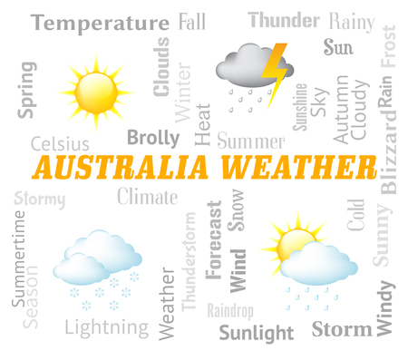 australasia: Australia Weather Meaning Meteorological Conditions And Outlook Stock Photo