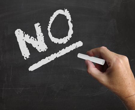 refusal: No Word Representing Stop Denying And Negative Stock Photo