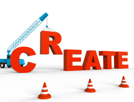 Create Crane Showing Construction Make And Building Stock Photo