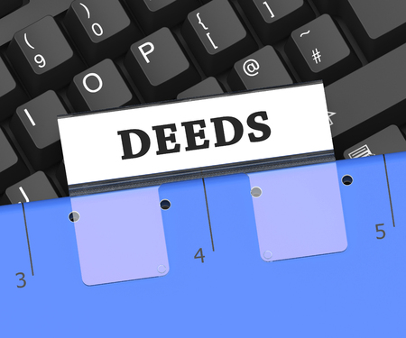 deeds: Deeds File Indicating Binder Paperwork And Certificate 3d Rendering Stock Photo