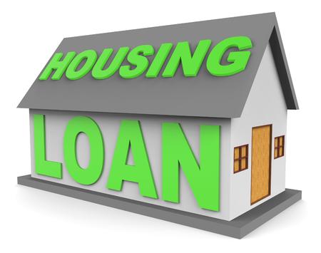 loaning: Housing Loan Representing Real Estate And Borrow 3d Rendering