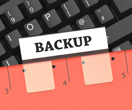 data archiving: Backup File Meaning Data Archiving And Organization 3d Rendering