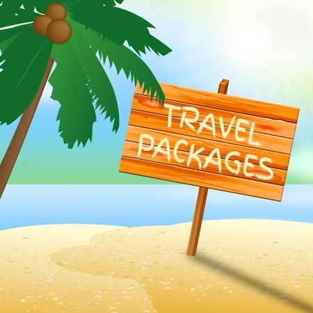tour operator: Travel Packages Meaning Go On Leave And Tour Operator Stock Photo