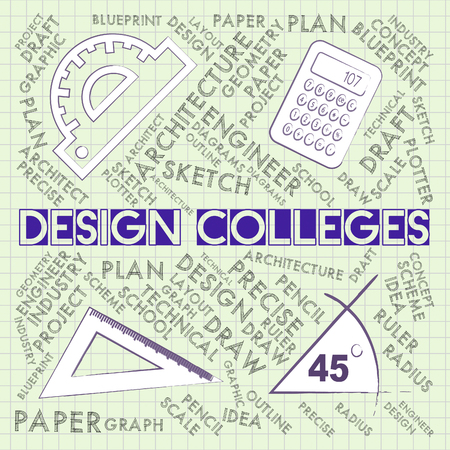 Design Colleges Representing Designs Creative And Visualization