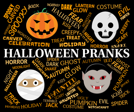haunting: Halloween Pranks Indicating Trick Or Treat And Haunting