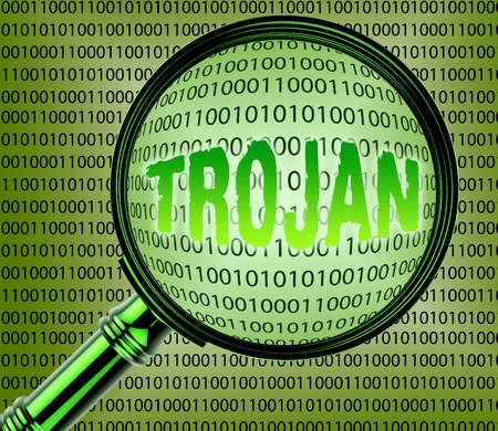 trojan: Computer Trojan Showing Internet Searching And Infected