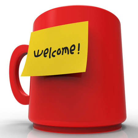 correspond: Welcome Message Representing Invitation Contact And Greeting 3d Rendering