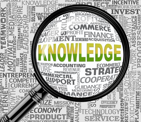 proficiency: Knowledge Magnifier Showing Proficiency Searches And Understanding Stock Photo