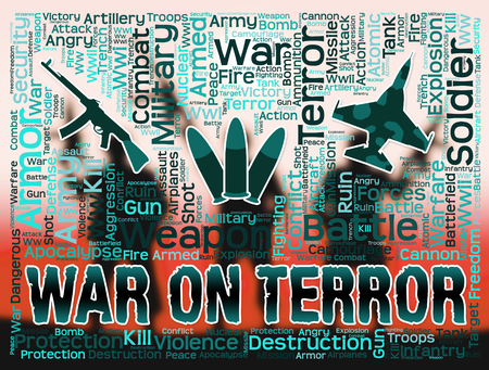 anti war: War On Terror Showing Anti Terrorism And Conflicts