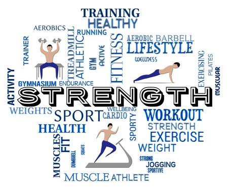 work out: Fitness Strength Showing Work Out And Aerobic
