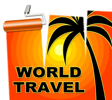 World Travel Showing Globalization Travelled And Worldly