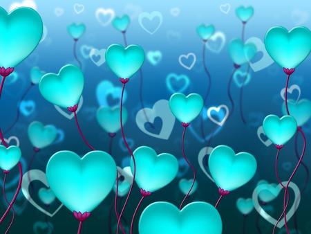 corazones azules: Corazones azules Antecedentes Indicando día de San Valentín y la pasión Foto de archivo