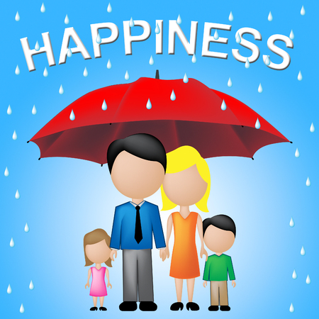 relatives: Family Happiness Showing Relatives Families And Joy Stock Photo