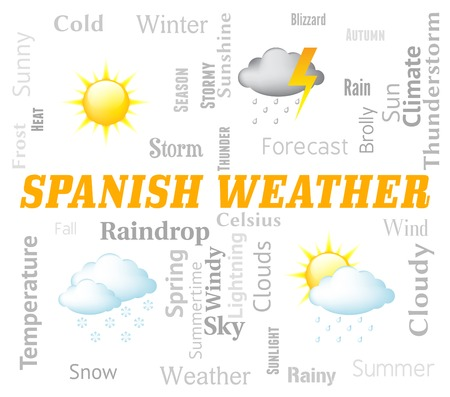 forecasts: Spanish Weather Indicating Meteorological Conditions And Spain