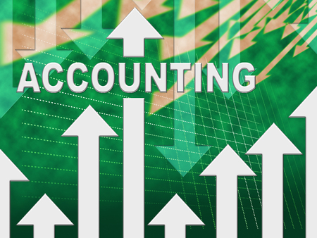Accounting Graph Representing Graphs Calculate And Auditing Stock Photo