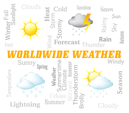 meteorological: Worldwide Weather Indicating Meteorological Conditions And Planet