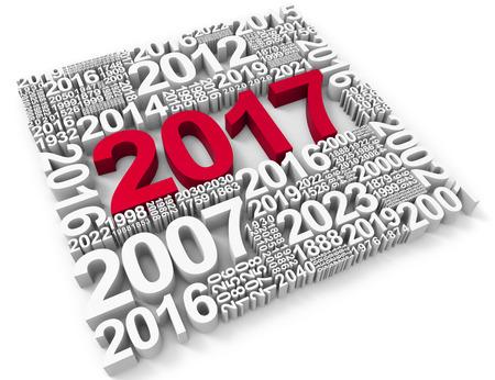 festivities: Twenty Seventeen Representing New Year And Festivities 3d Rendering