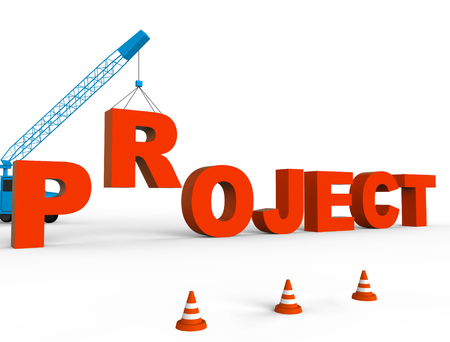 programme: Build Project Representing Programme Builds And Scheme 3d Rendering Stock Photo