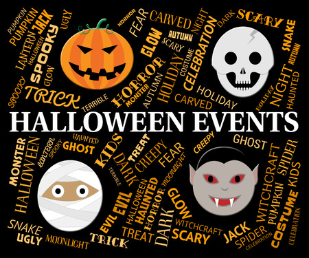 happening: Halloween Events Representing Trick Or Treat And Happening