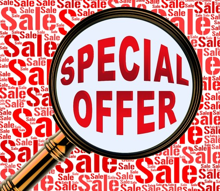 noteworthy: Special Offer Meaning Notable Deals And Discounts Stock Photo