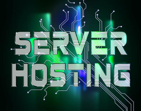 webhosting: Server Hosting Indicating Data Connectivity And Database