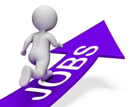 vocation: Jobs Arrow Meaning Vocation Employment And Arrows 3d Rendering