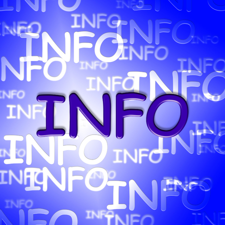 inform information: Info Words Showing Help Information And Knowledge Stock Photo