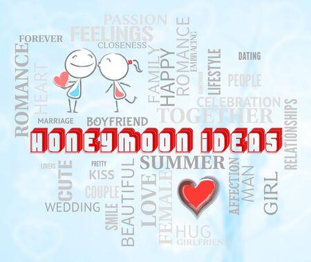 honeymoons: Honeymoon Ideas Indicating Lover Compassionate And Heart Stock Photo