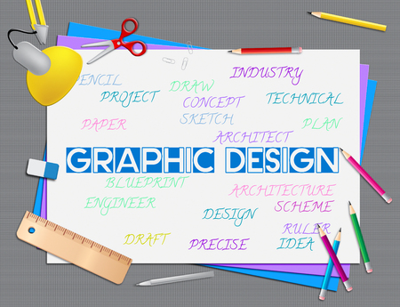 designing: Graphic Design Representing Creative Designing And Creativity