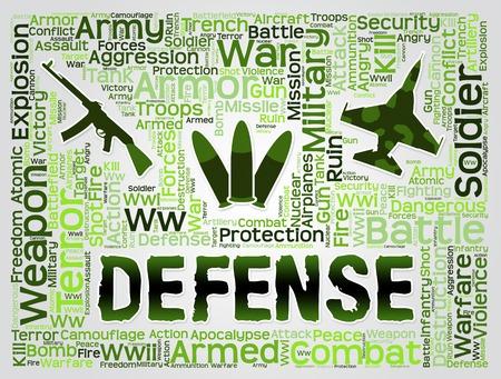 resistance: Defense Words Representing Resistance Defend And Deterrent