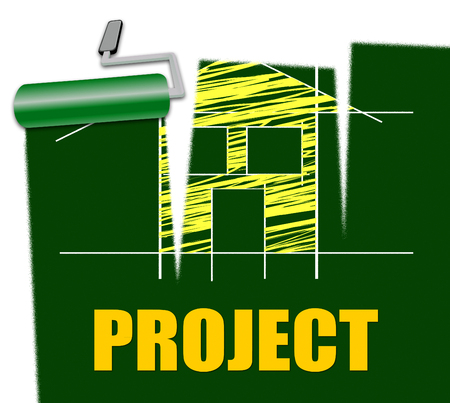 modernize: House Project Indicating Real Estate And Refurnish