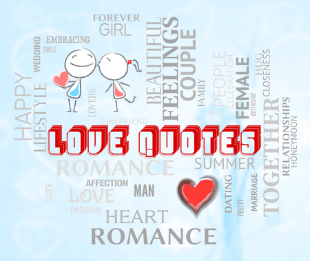 the devotion: Love Quotes Meaning Fondness Devotion And Inspirational Stock Photo