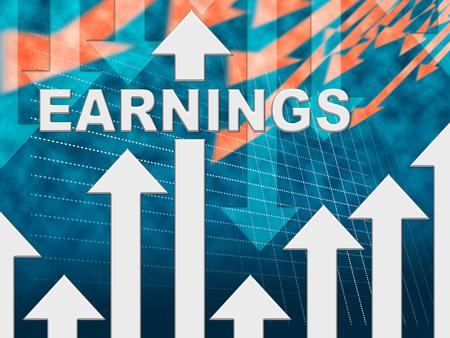 ganancias: Las ganancias gráfico que indica gana Gráfico y el salario