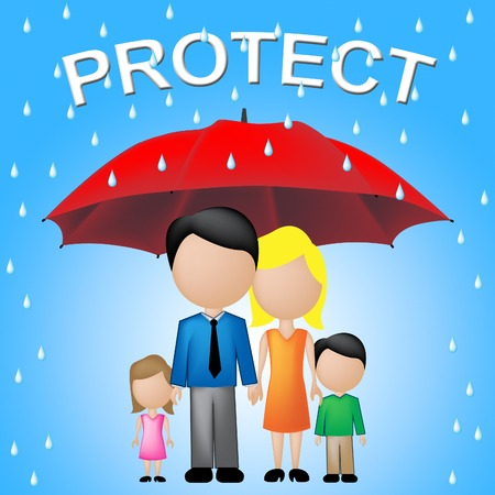 protect family: Protect Family Indicating Take Care And Relative