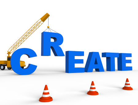 create: Create Crane Showing Construction Make And Build Stock Photo