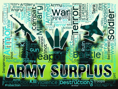 armed services: Army Surplus Showing Armed Services And Fighting