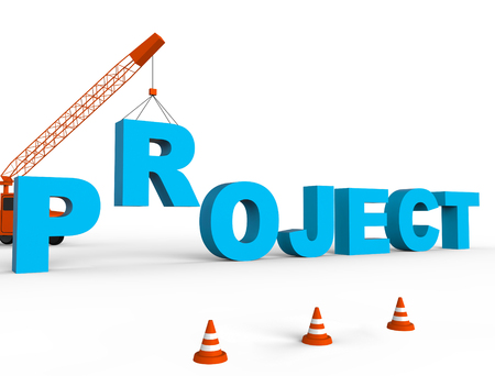 programme: Build Project Meaning Programme Plan And Tasks 3d Rendering Stock Photo