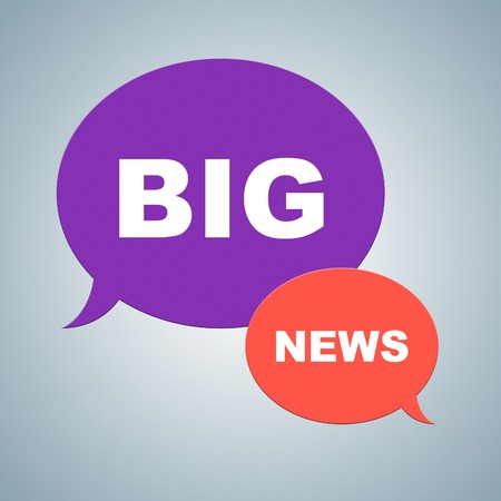 considerable: Big News Showing Social Media And Newspaper Stock Photo